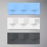 Vektorfahnen und -quadrate. Farbsatz Lizenzfreie Stockfotos
