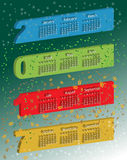 Vektorfarbevolumetrischer Kalender 3D Stockfoto