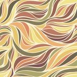 Vektorfarbhandzeichnungswellen-Herbsthintergrund Stockbild