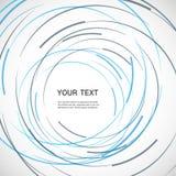 Vektorfarblinie-Rotationsdesign Lizenzfreies Stockbild