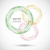 Vektorfarblinie-Rotationsdesign Stockfotografie