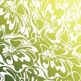 Vektorfarbnahtloser Strudel-Olivenhintergrund Grünes abstraktes flo Stockfotografie