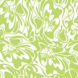 Vektorfarbnahtloser Strudel-Olivenhintergrund Grünes abstraktes flo Stockbilder