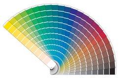 Vektorfarbpalettenbuch stock abbildung