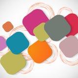 Vektorfarbquadratverbindung ENV Lizenzfreies Stockfoto