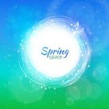 Vektorfarbstrudelring für Frühlingshintergrund Stockfotos
