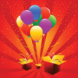 Vektorfeiertags-Ballone Stockfotografie