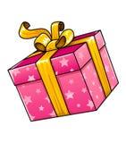 Vektorfeiertagsgeschenkgeschenk trennte Lizenzfreies Stockfoto