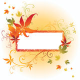 Vektorfeld mit Herbst-Blättern. Danksagung Stockbilder