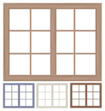 Vektorfensterrahmen lokalisiert Lizenzfreie Stockfotos