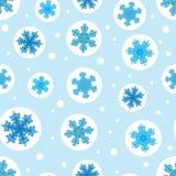 Vektorferieljus - blått bubblar med jul stock illustrationer
