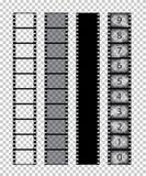Vektorfilmstreifen auf transparentem Hintergrund stock abbildung