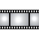 Vektorfilmstreifen mit Raum für Ihren Text oder Bild Lizenzfreies Stockbild