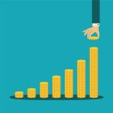 Vektorfinanzwachstumskonzept lizenzfreie abbildung