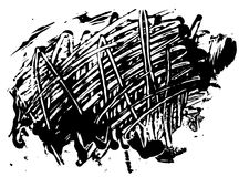 Vektorfläckfläck av svart målarfärg stock illustrationer