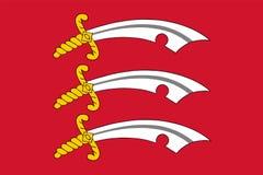 Vektorflagga av Essex County, England förenat kungarike stock illustrationer