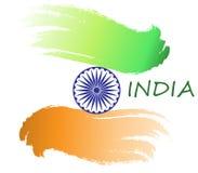 Vektorflaggan av Indien i stilen av vattenfärgen målar med en modell Illustration till feriedagen av Indien ` s stock illustrationer