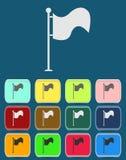 Vektorflaggasymbol med färgvariationer, vektor Royaltyfri Bild