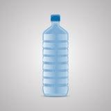 Vektorflasche mit sauberem blauem Wasser Auch im corel abgehobenen Betrag stock abbildung
