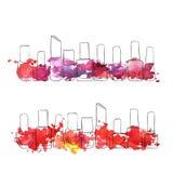 Vektorflaskor av spikar polermedel Royaltyfri Bild