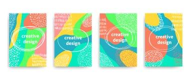 Vektorflieger, Fahnen, Plakat, Karten, Broschüre mit buntem abstraktem Entwurf lizenzfreie abbildung