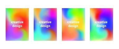Vektorflieger mit flüssigem buntem vibrierendem Hintergrund Kreativ geruhen Sie lizenzfreie abbildung