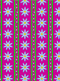 Vektorflora-Rosa-gestreifter Tapeten-Hintergrund Lizenzfreie Stockfotos