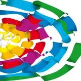Vektorflugwesen-Regenbogenfarben Stockbilder