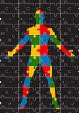 Vektorformat des menschlichen Körpers des Puzzlespiels Lizenzfreies Stockbild