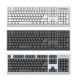 VektorFoto-realistic Tastaturen eingestellt Lizenzfreies Stockbild