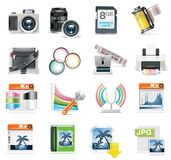 Vektorfotographien-Ikonenset Stockfotografie