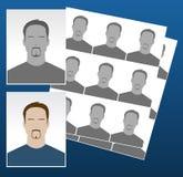 Vektorfotoikonen mit Gesichtern lizenzfreie abbildung
