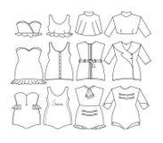 Vektorfrauenkleidung Lizenzfreies Stockbild