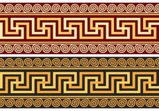 Vektorfris med den grekiska prydnaden (slingringar) royaltyfri illustrationer