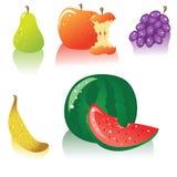 Vektorfrucht-Ikonenset Lizenzfreies Stockfoto
