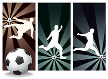 Vektorfußball-Spieler Lizenzfreie Stockbilder