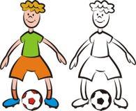 Vektorfußballspieler - Schlaggerät Lizenzfreie Stockbilder