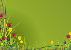 Vektorgarten-Grün lizenzfreie abbildung
