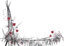 Vektorgarten-Weiß Stockfoto