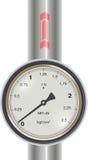 Vektorgasmanometer mit Rohr Stockbilder