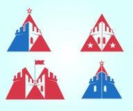 Vektorgebäude Logo für persönliches und Immobiliengesellschaft Stockbilder