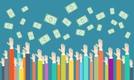 Vektorgeld auf Leutegeschäft Lizenzfreie Stockfotografie