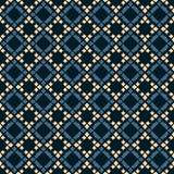 Vektorgeometrisches nahtloses Muster Volksverzierung Schwarze, blaue und beige Farben stock abbildung