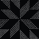 Vektorgeometrisches nahtloses Muster Wiederholen von abstrakten Punkten Lizenzfreie Stockbilder