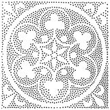 Vektorgeometrisches nahtloses Muster Wiederholen von abstrakten Punkten Stockfoto