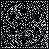 Vektorgeometrisches nahtloses Muster Wiederholen von abstrakten Punkten Stockfotografie