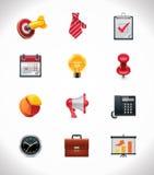 Vektorgeschäfts-Ikonenset Stockbilder