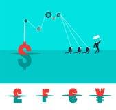 Vektorgeschäfts-Konzeptillustration von strongs Stockfotografie