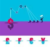 Vektorgeschäfts-Konzeptillustration von strongs Stockfotos