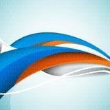 Vektorgeschäfts-Wellenelemente blau und orange Hintergrund Lizenzfreies Stockfoto